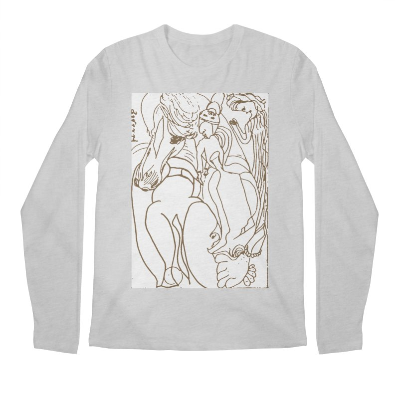 Horse in the casting Men's Regular Longsleeve T-Shirt by Darabem's Artist Shop. Darabem Collection
