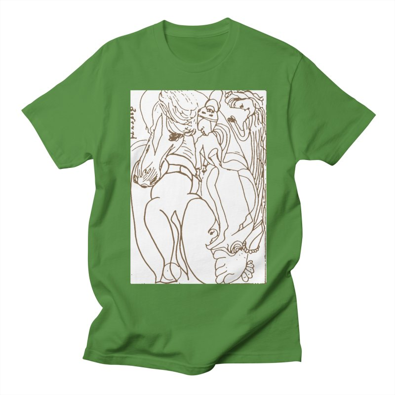 Horse in the casting Men's Regular T-Shirt by Darabem's Artist Shop. Darabem Collection