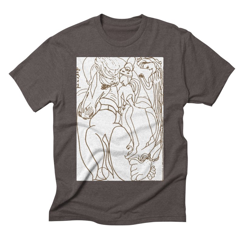Horse in the casting Men's Triblend T-Shirt by Darabem's Artist Shop. Darabem Collection