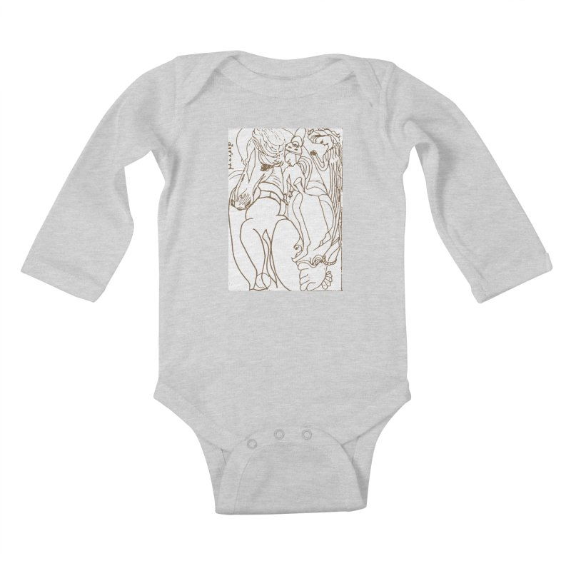 Horse in the casting Kids Baby Longsleeve Bodysuit by Darabem's Artist Shop. Darabem Collection