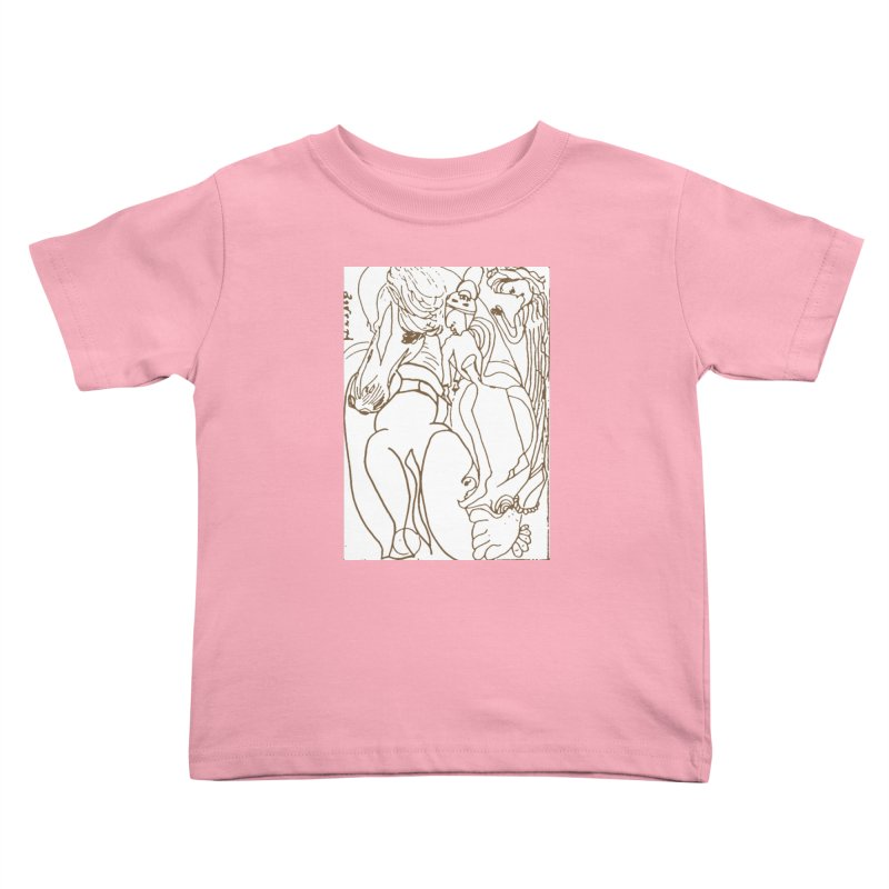 Horse in the casting Kids Toddler T-Shirt by Darabem's Artist Shop. Darabem Collection