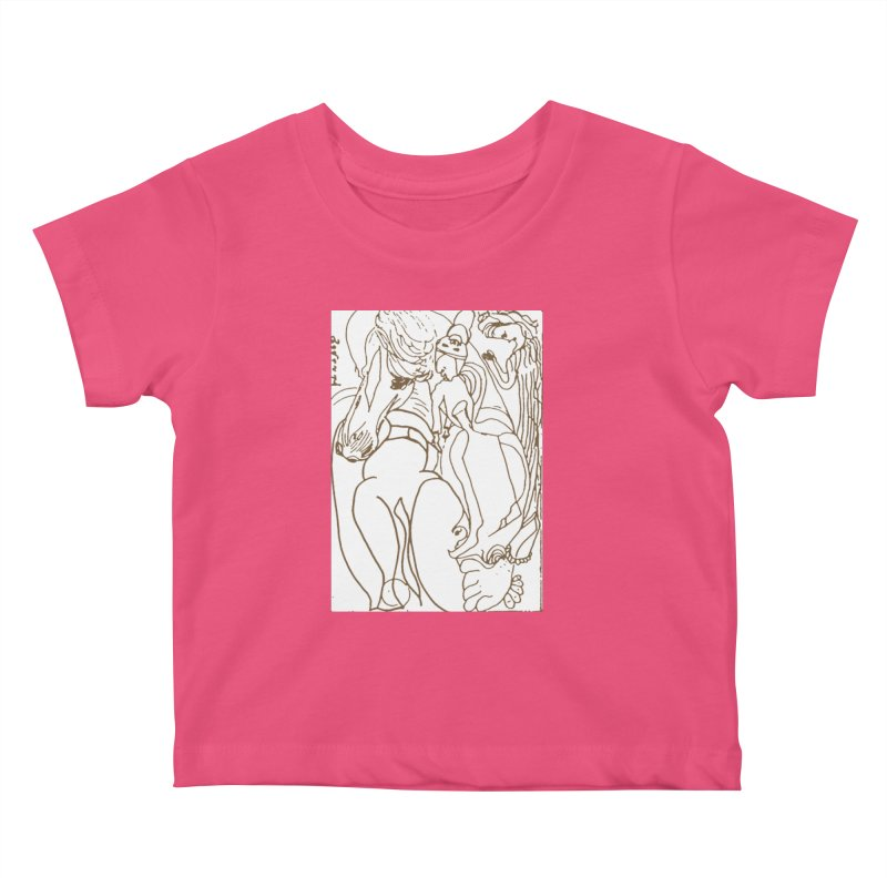 Horse in the casting Kids Baby T-Shirt by Darabem's Artist Shop. Darabem Collection