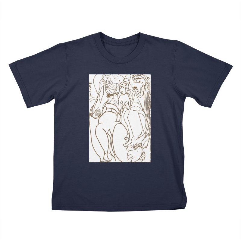 Horse in the casting Kids T-Shirt by Darabem's Artist Shop. Darabem Collection