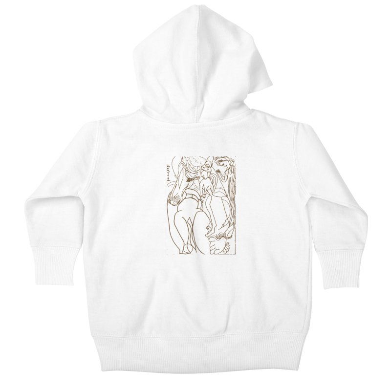Horse in the casting Kids Baby Zip-Up Hoody by Darabem's Artist Shop. Darabem Collection