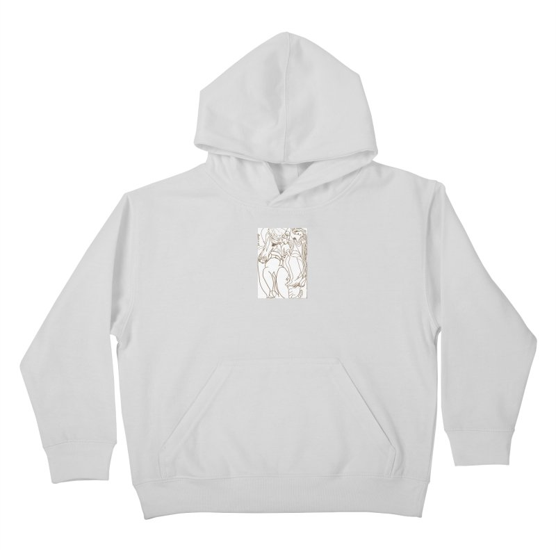 Horse in the casting Kids Pullover Hoody by Darabem's Artist Shop. Darabem Collection