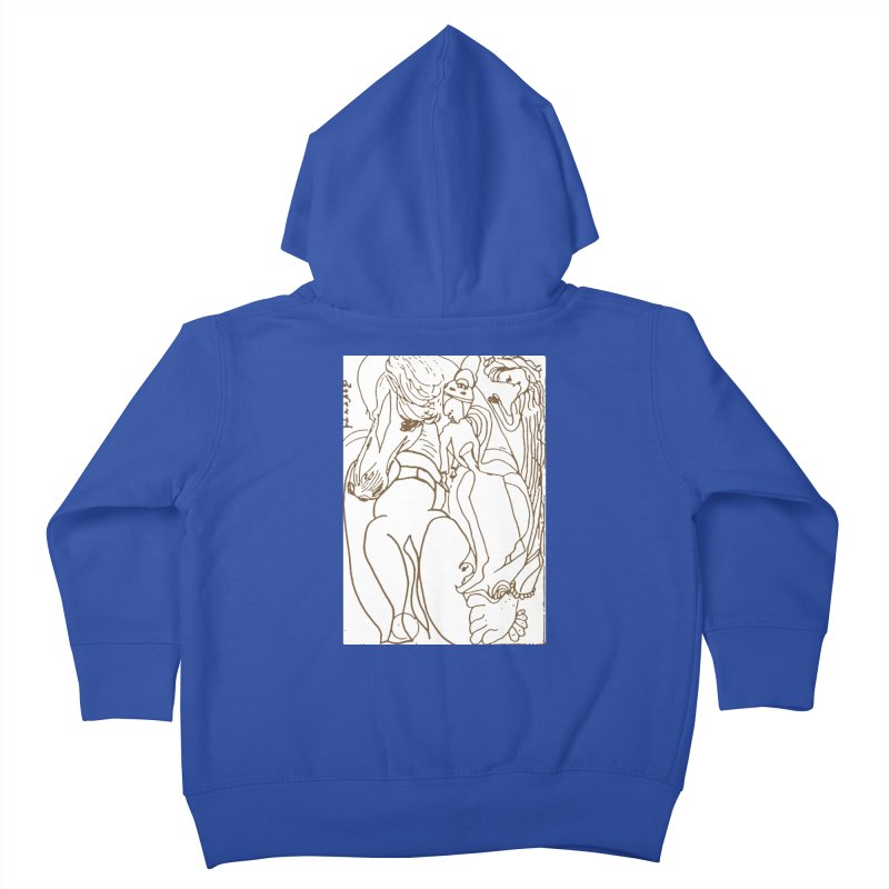 Horse in the casting Kids Toddler Zip-Up Hoody by Darabem's Artist Shop. Darabem Collection