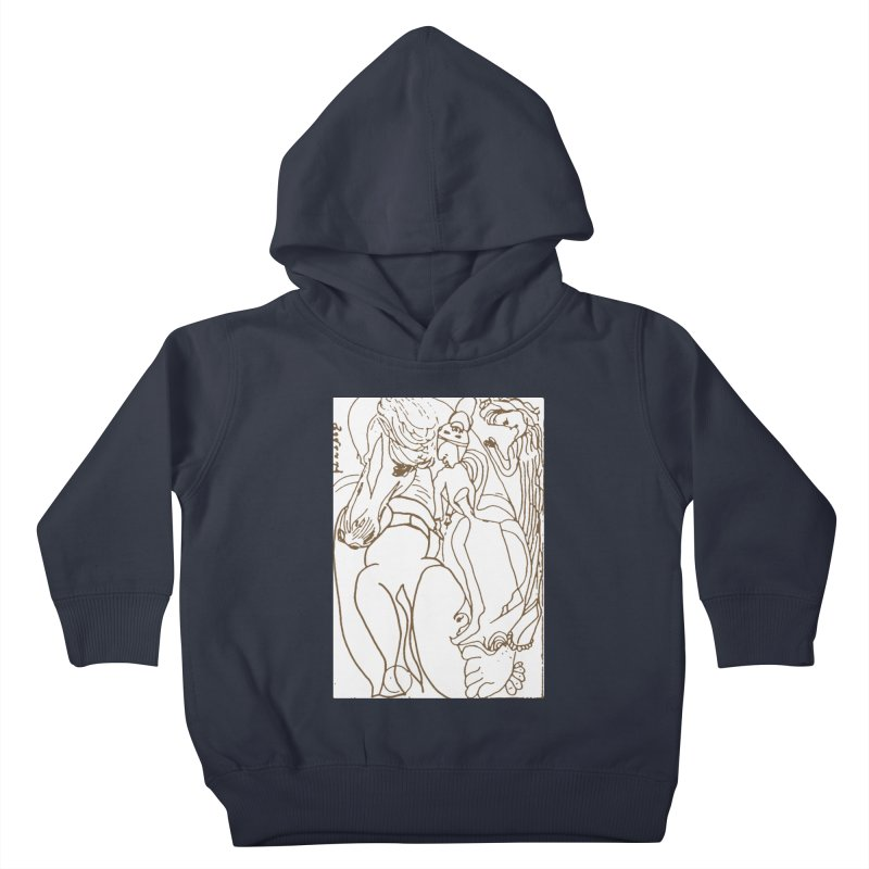 Horse in the casting Kids Toddler Pullover Hoody by Darabem's Artist Shop. Darabem Collection