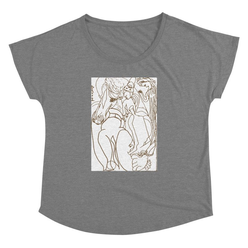 Horse in the casting Women's Dolman Scoop Neck by Darabem's Artist Shop. Darabem Collection