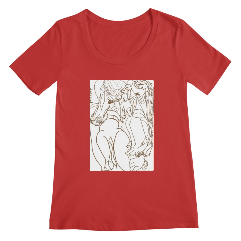 Horse in the casting Women's Regular Scoop Neck by Darabem's Artist Shop. Darabem Collection