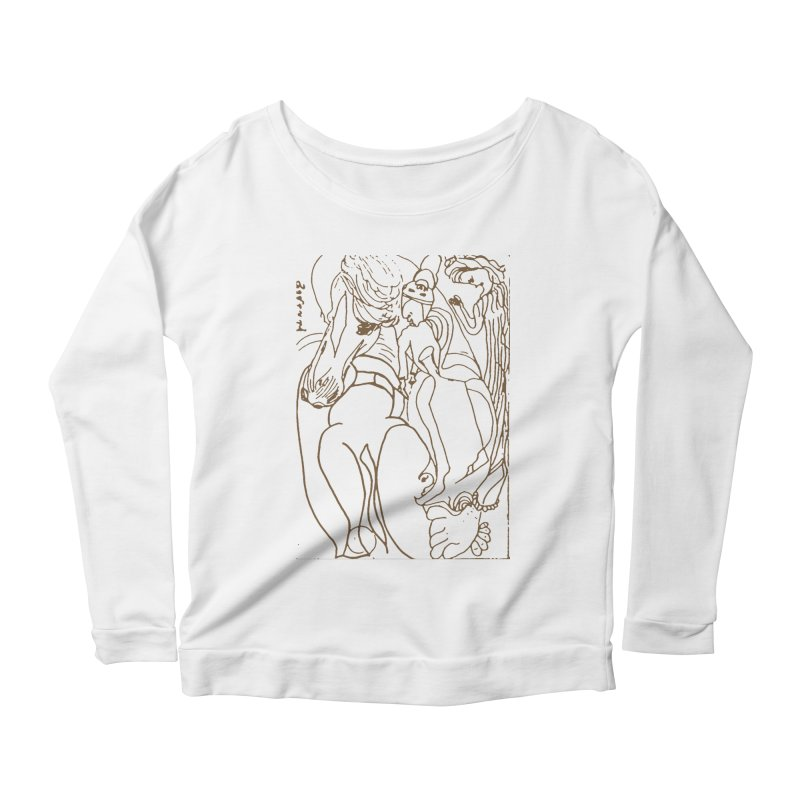 Horse in the casting Women's Scoop Neck Longsleeve T-Shirt by Darabem's Artist Shop. Darabem Collection