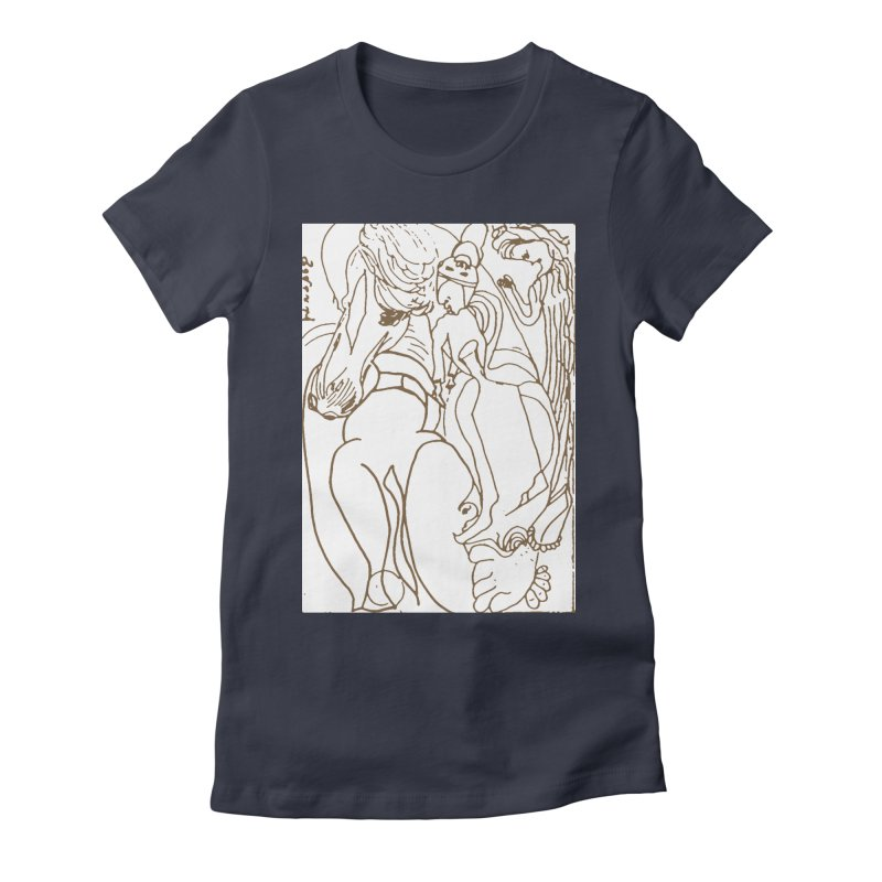 Horse in the casting Women's Fitted T-Shirt by Darabem's Artist Shop. Darabem Collection