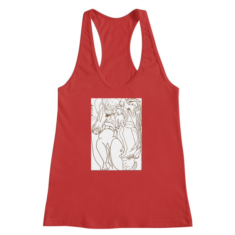 Horse in the casting Women's Racerback Tank by Darabem's Artist Shop. Darabem Collection