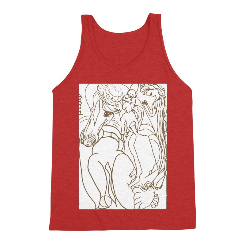 Horse in the casting Men's Triblend Tank by Darabem's Artist Shop. Darabem Collection