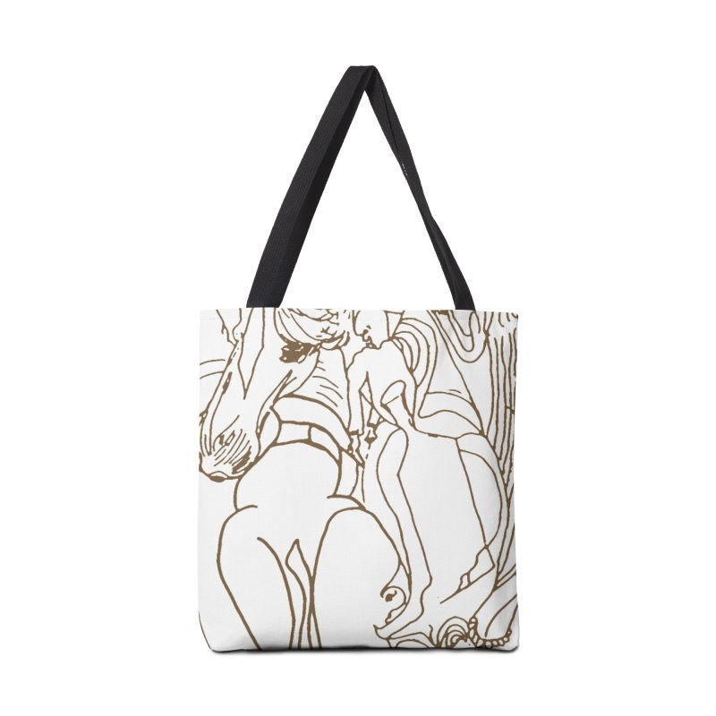 Horse in the casting Accessories Tote Bag Bag by Darabem's Artist Shop. Darabem Collection