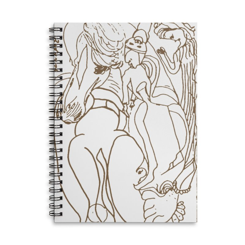 Horse in the casting Accessories Lined Spiral Notebook by Darabem's Artist Shop. Darabem Collection
