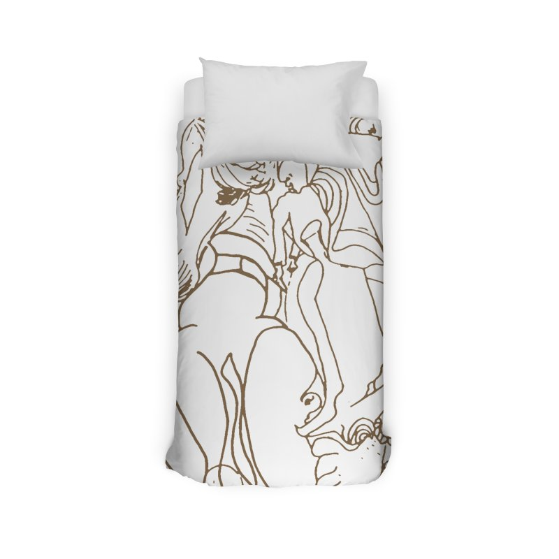 Horse in the casting Home Duvet by Darabem's Artist Shop. Darabem Collection