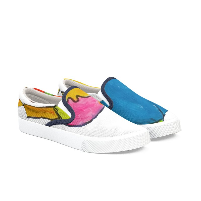 Ball and Boy Men's Slip-On Shoes by Darabem's Artist Shop. Darabem Collection