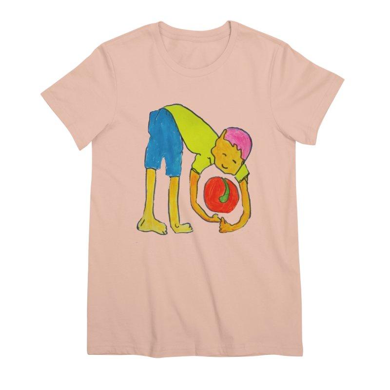 Ball and Boy Women's Premium T-Shirt by Darabem's Artist Shop. Darabem Collection