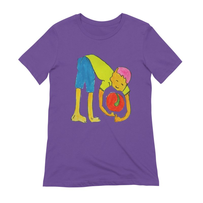 Ball and Boy Women's Extra Soft T-Shirt by Darabem's Artist Shop. Darabem Collection