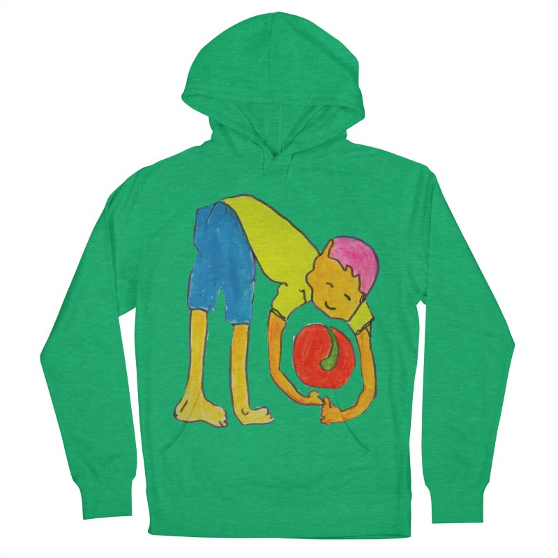 Ball and Boy Women's French Terry Pullover Hoody by Darabem's Artist Shop. Darabem Collection