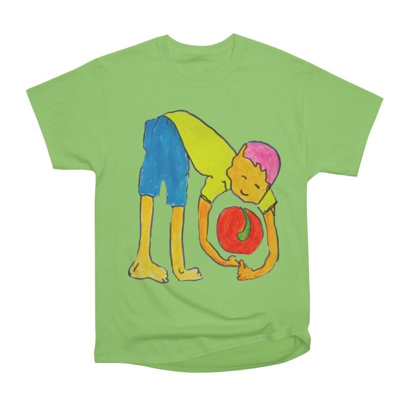 Ball and Boy Women's Heavyweight Unisex T-Shirt by Darabem's Artist Shop. Darabem Collection