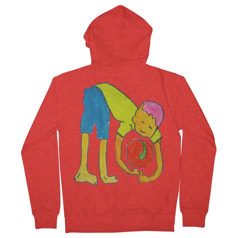 Ball and Boy Women's Zip-Up Hoody by Darabem's Artist Shop. Darabem Collection