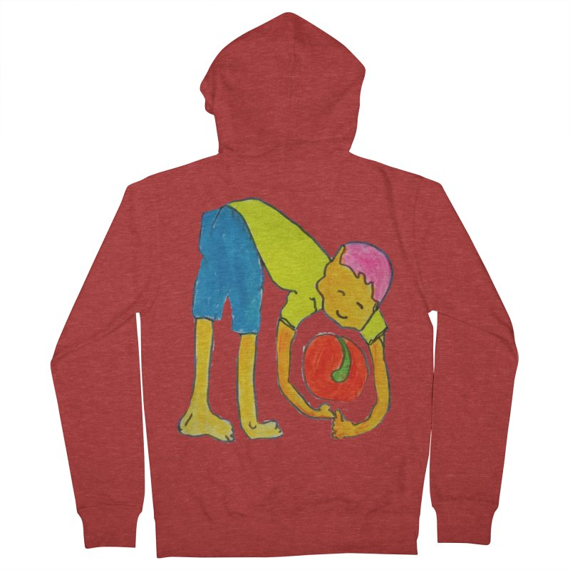 Ball and Boy Women's French Terry Zip-Up Hoody by Darabem's Artist Shop. Darabem Collection