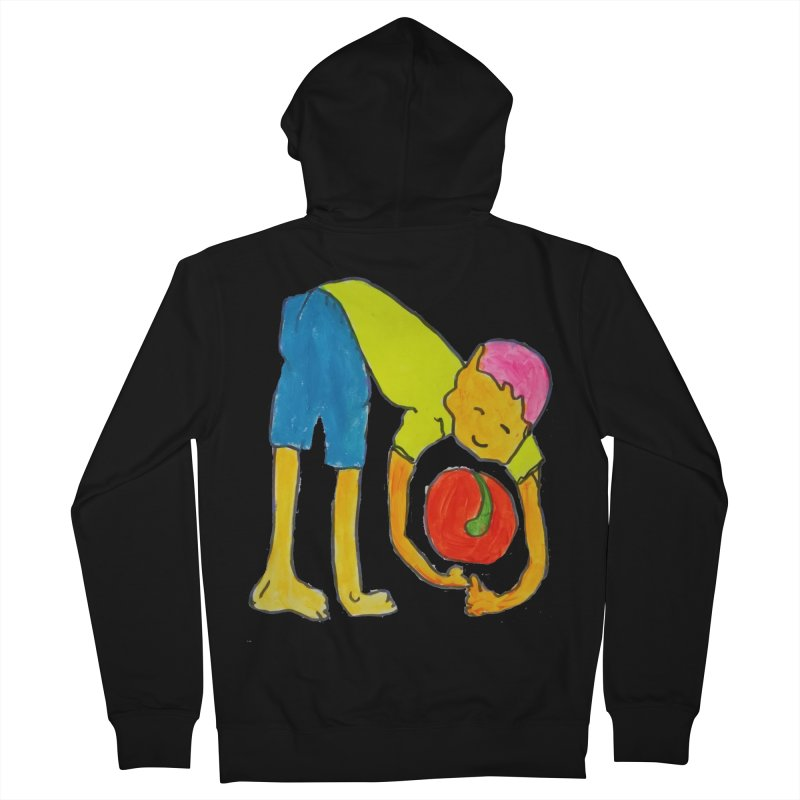 Ball and Boy Men's French Terry Zip-Up Hoody by Darabem's Artist Shop. Darabem Collection