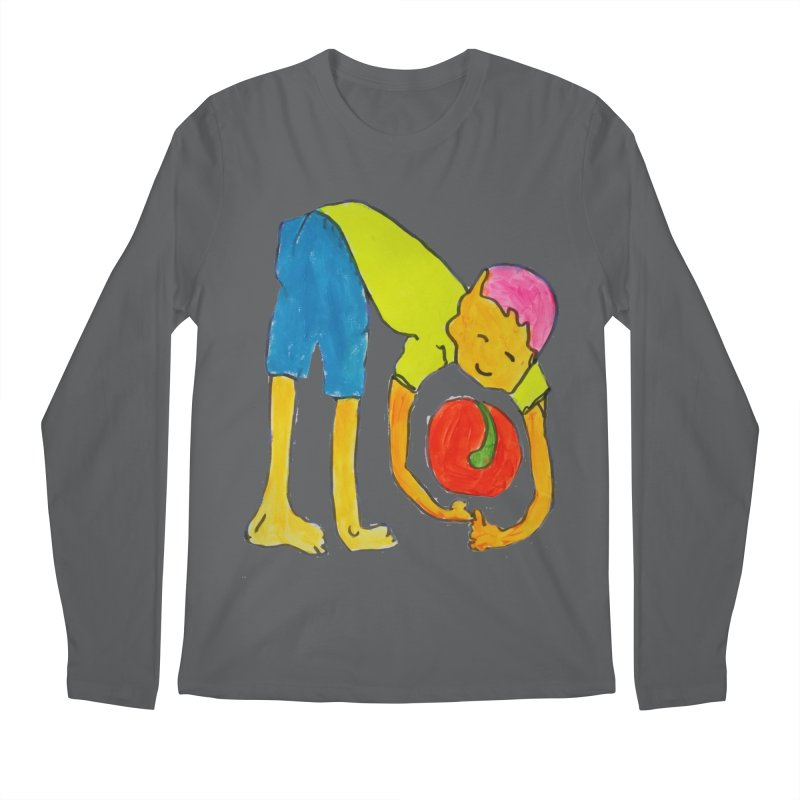 Ball and Boy Men's Longsleeve T-Shirt by Darabem's Artist Shop. Darabem Collection
