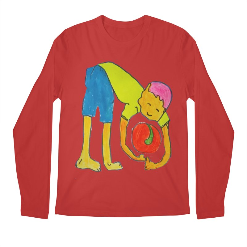 Ball and Boy Men's Regular Longsleeve T-Shirt by Darabem's Artist Shop. Darabem Collection