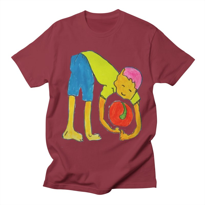 Ball and Boy Men's T-Shirt by Darabem's Artist Shop. Darabem Collection