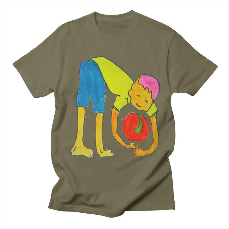 Ball and Boy Men's Regular T-Shirt by Darabem's Artist Shop. Darabem Collection