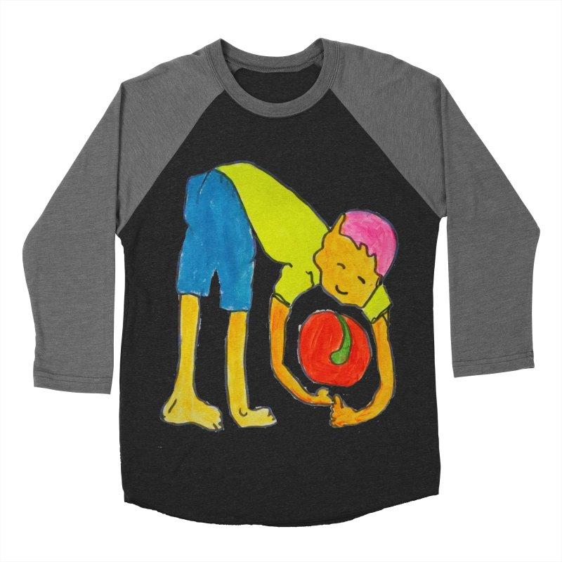 Ball and Boy Women's Baseball Triblend Longsleeve T-Shirt by Darabem's Artist Shop. Darabem Collection