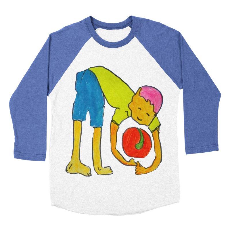 Ball and Boy Men's Baseball Triblend Longsleeve T-Shirt by Darabem's Artist Shop. Darabem Collection