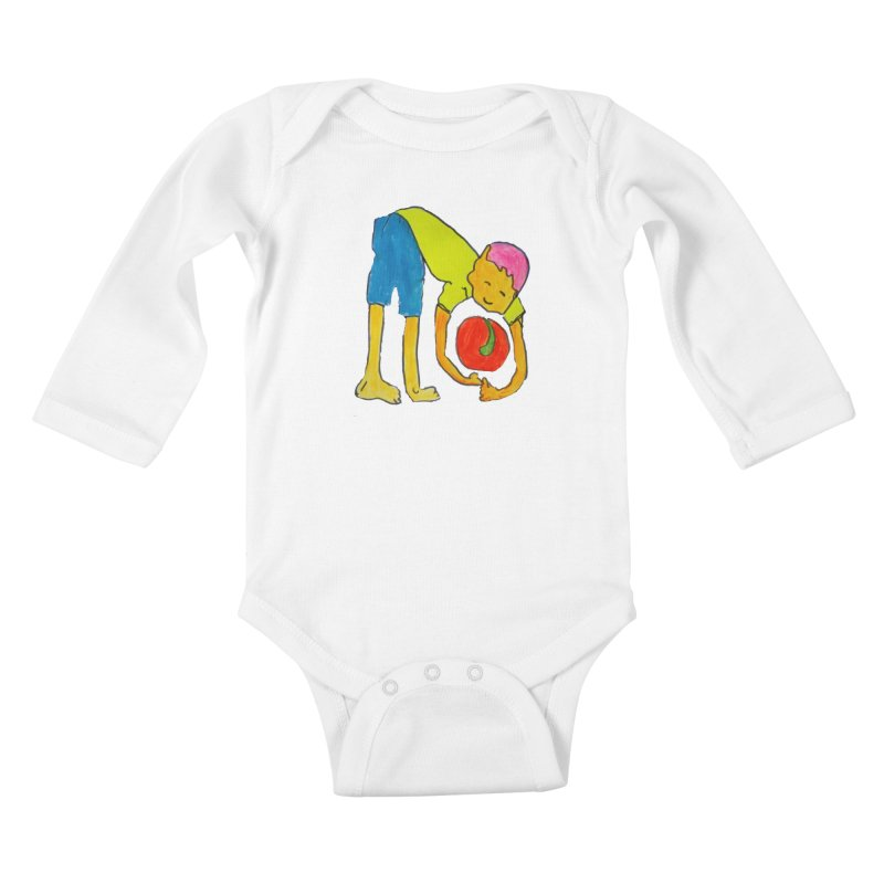 Ball and Boy Kids Baby Longsleeve Bodysuit by Darabem's Artist Shop. Darabem Collection