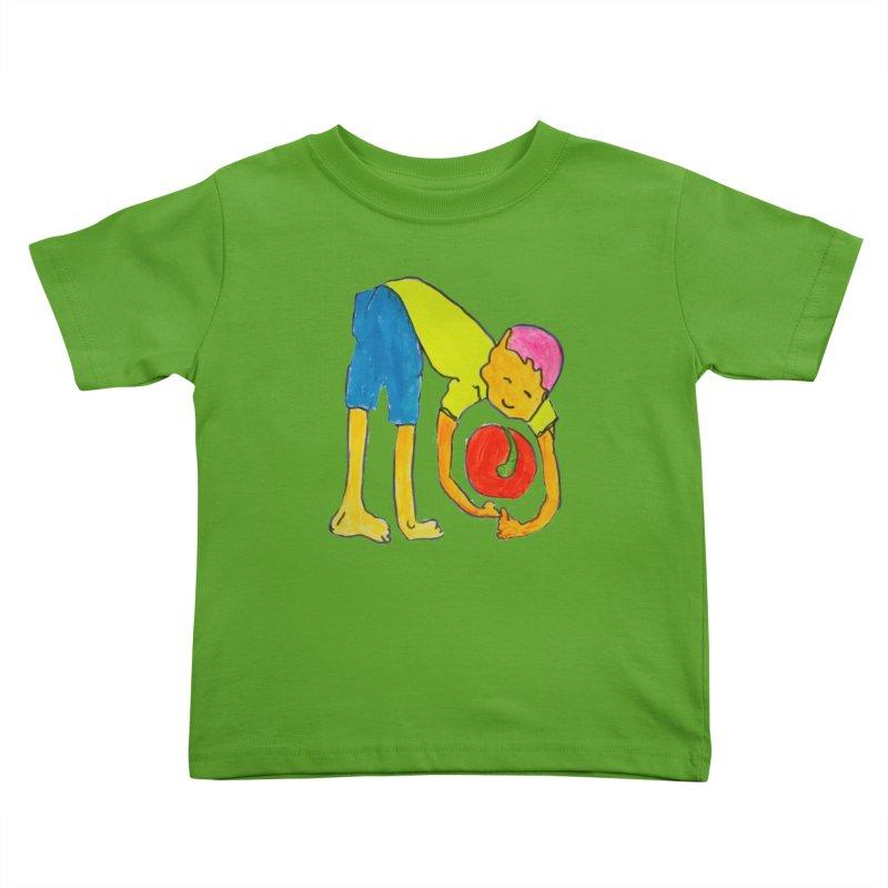 Ball and Boy Kids Toddler T-Shirt by Darabem's Artist Shop. Darabem Collection