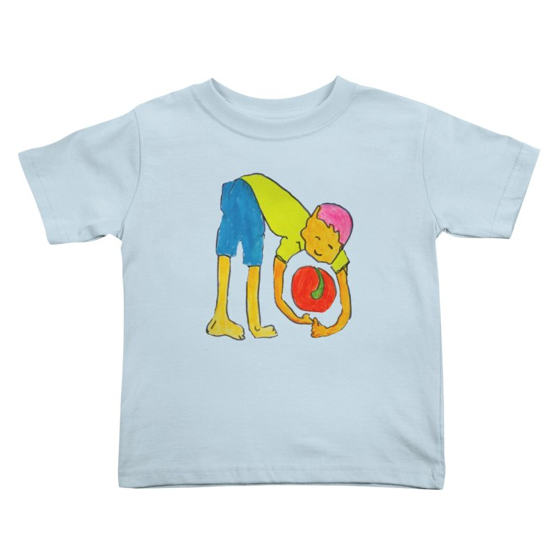Ball and Boy Kids Toddler T-Shirt by Darabem's Artist Shop. Darabem Collection