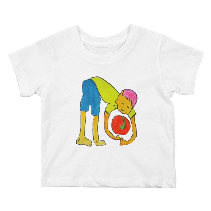 Ball and Boy Kids Baby T-Shirt by Darabem's Artist Shop. Darabem Collection