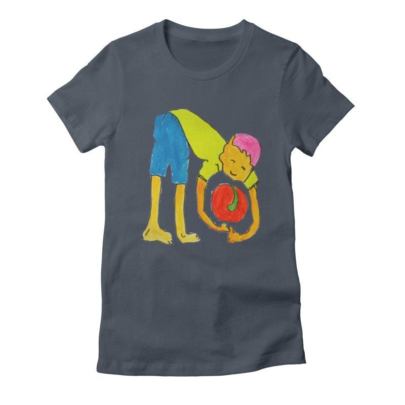 Ball and Boy Women's T-Shirt by Darabem's Artist Shop. Darabem Collection