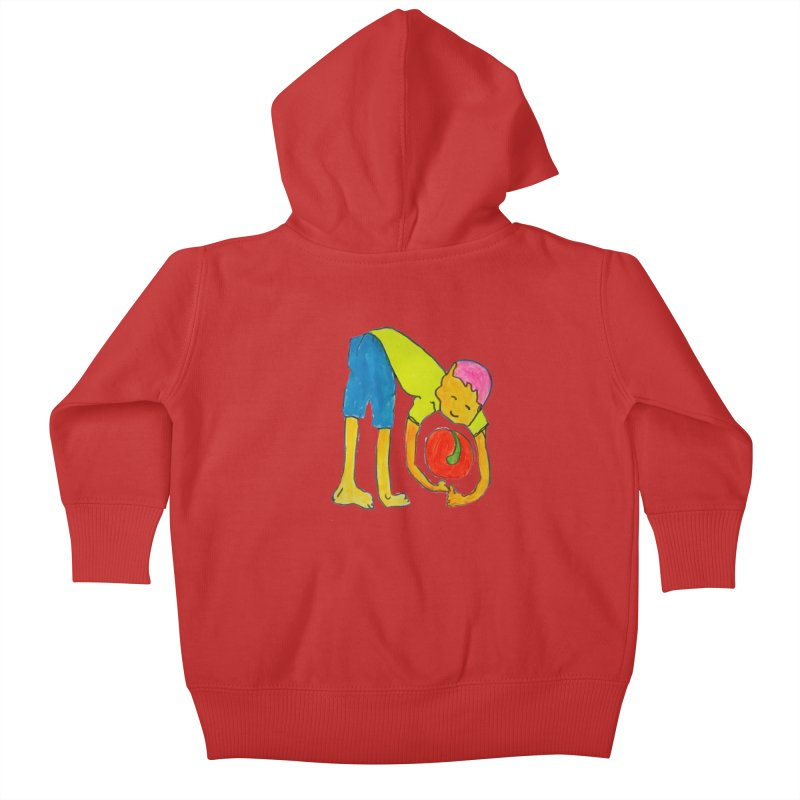 Ball and Boy Kids Baby Zip-Up Hoody by Darabem's Artist Shop. Darabem Collection