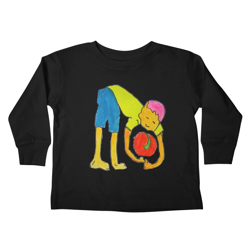 Ball and Boy Kids Toddler Longsleeve T-Shirt by Darabem's Artist Shop. Darabem Collection