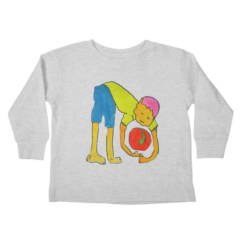 Ball and Boy Kids Toddler Longsleeve T-Shirt by Darabem's Artist Shop. Darabem Collection