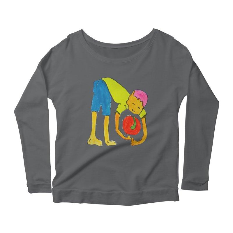 Ball and Boy Women's Longsleeve T-Shirt by Darabem's Artist Shop. Darabem Collection