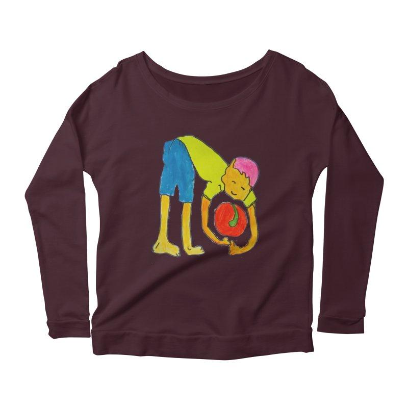 Ball and Boy Women's Scoop Neck Longsleeve T-Shirt by Darabem's Artist Shop. Darabem Collection