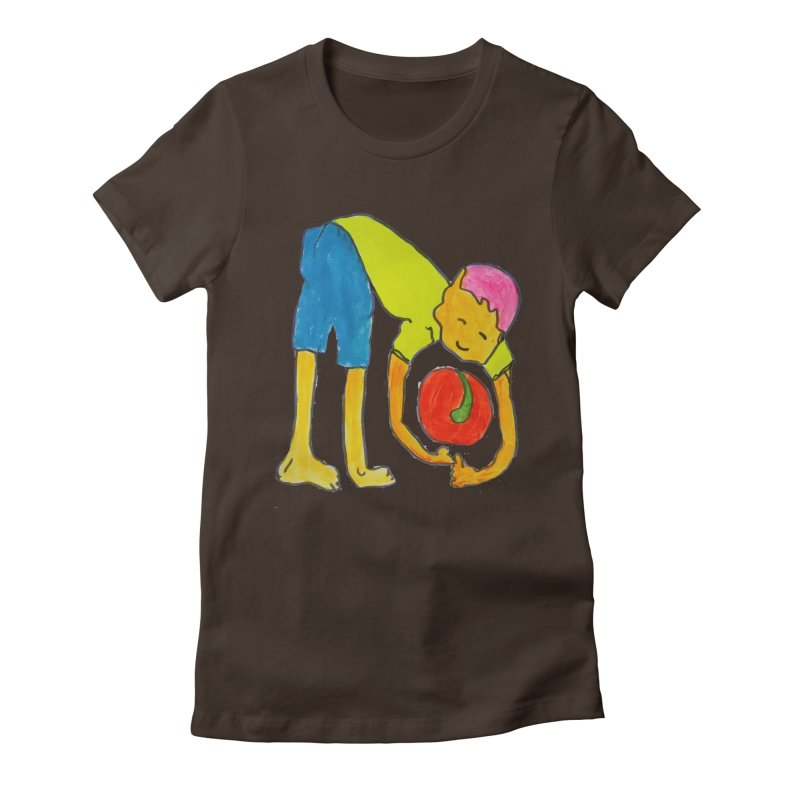 Ball and Boy Women's Fitted T-Shirt by Darabem's Artist Shop. Darabem Collection