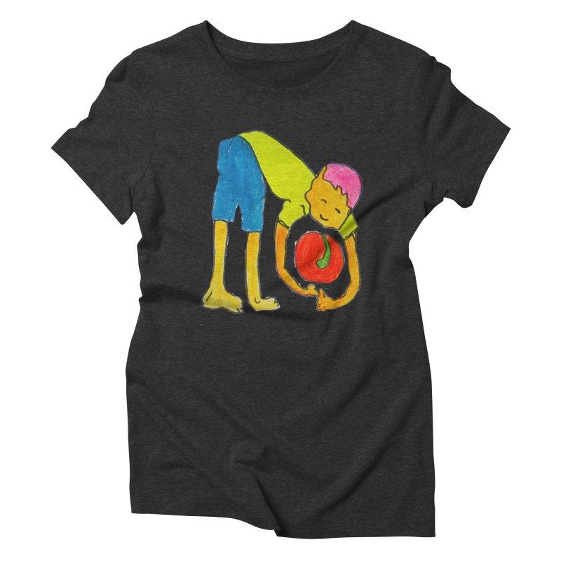 Ball and Boy Women's Triblend T-Shirt by Darabem's Artist Shop. Darabem Collection