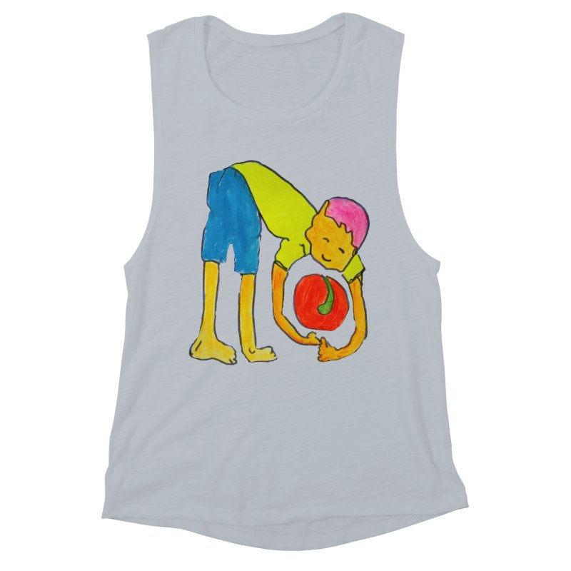 Ball and Boy Women's Muscle Tank by Darabem's Artist Shop. Darabem Collection