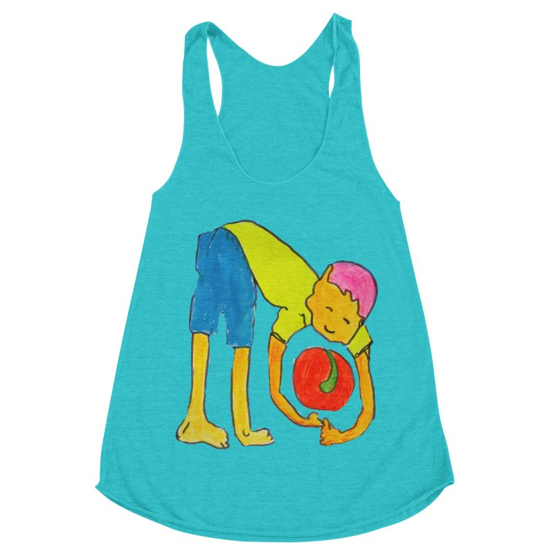 Ball and Boy Women's Racerback Triblend Tank by Darabem's Artist Shop. Darabem Collection