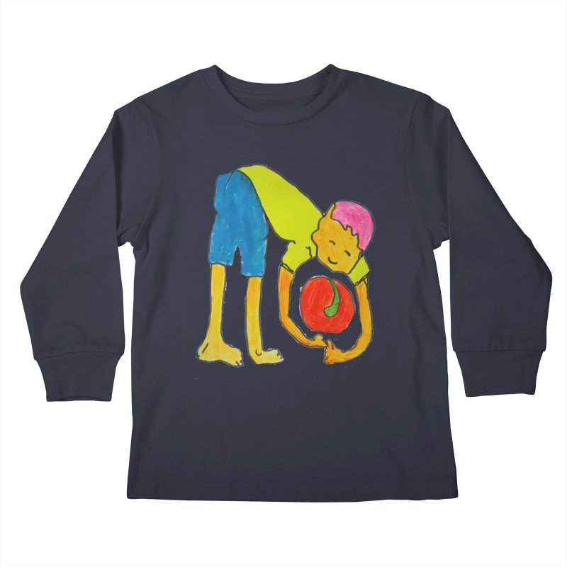 Ball and Boy Kids Longsleeve T-Shirt by Darabem's Artist Shop. Darabem Collection
