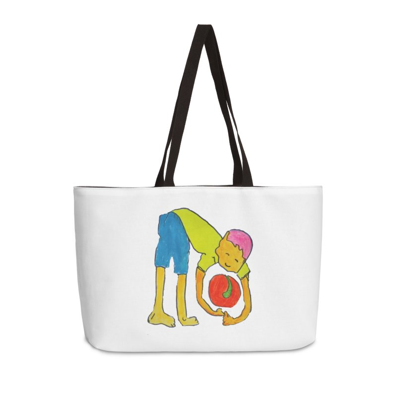 Ball and Boy Accessories Weekender Bag Bag by Darabem's Artist Shop. Darabem Collection